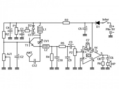 Transistor Am Radio Schematic